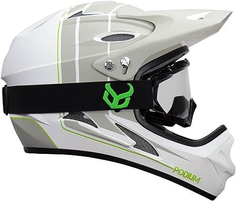 with Demon Viper MTB Goggles Demon United Podium Black//Black Full Face Mountain Bike Helmet BMX Helmet 3 Goggle Color Options Available