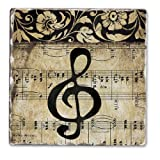CounterArt Music Staff Tumbled Tile Coasters, Set of 4
