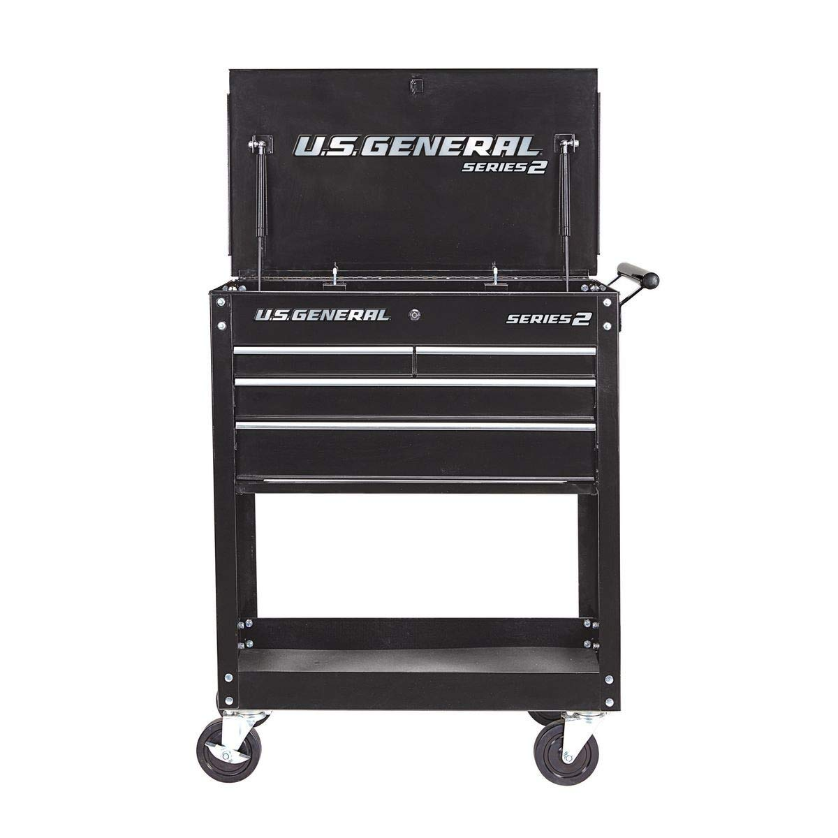 NEW!!! 2020 Design 30 In. 4 Drawer Presidential Black Tech Cart by U.S. GENERAL SERIES 2