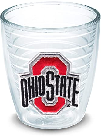 Clear Tervis 1215460 Ohio State Buckeyes College Pride Tumbler with Wrap and Red Lid 16oz