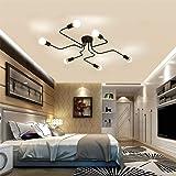 Industrial Vintage Iron Metal Flush Mount Black Art Deco Ceiling Light Retro Fixture Chandeliers Pendant Lamp for…