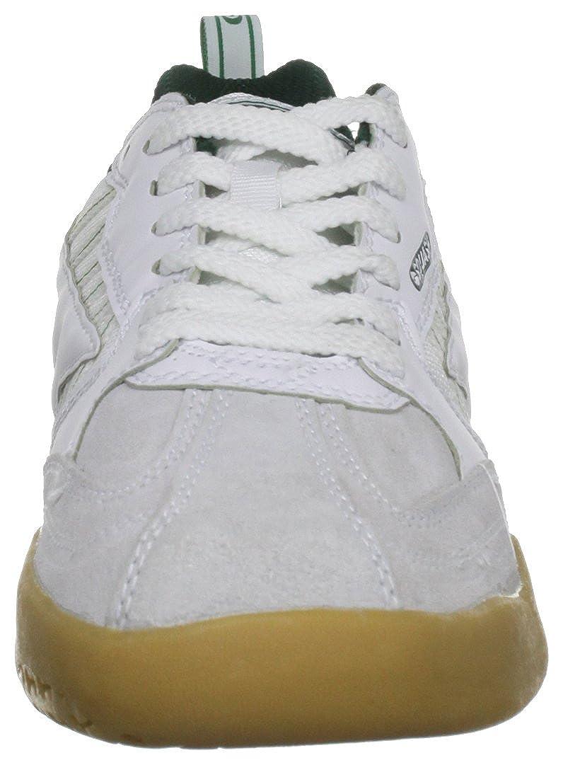 Bianco 40 EU White//Dark Green Hi-Tec Classic Scarpe da Squash Unisex Adulto