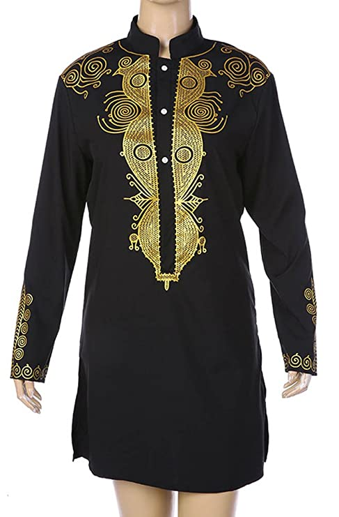 Fashion ER African Dresses For In African Clothing Long Printed Sleeve  Pullover Shirt Men's T-Shirt (L): Amazon.co.uk: Clothing