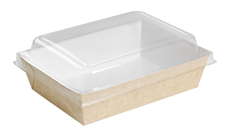 PacknWood 210PAN850 Brown Paper Salad Box - 28oz 9 x 6.5 x 1.5-200 per case