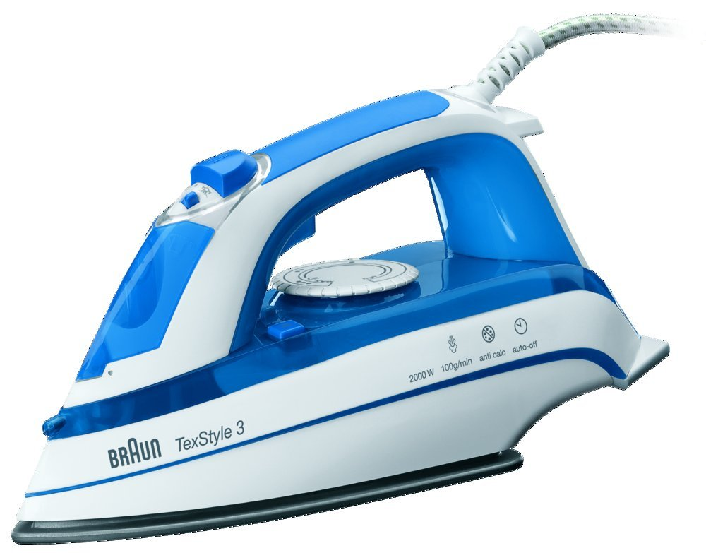 Braun TexStyle 3 TS355A Steam Iron - Blue & White 0127394024