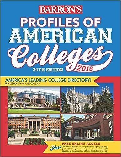 Descargar Epub Profiles Of American Colleges 2018