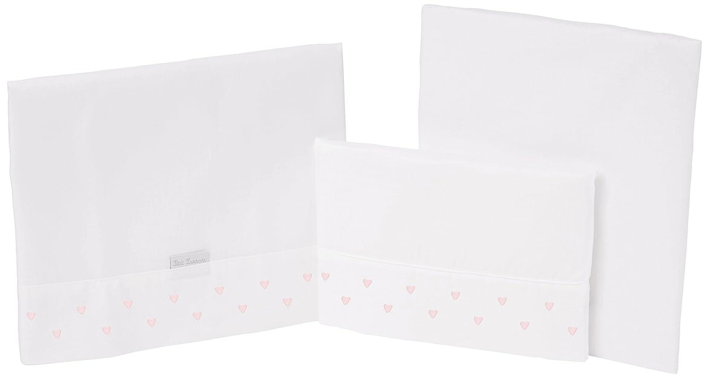 Petit Lazzari cœur lot de 3draps pour landau, Coucou ou Moïse, 35x 75cm, couleur rose Lazzari Textil S.L.