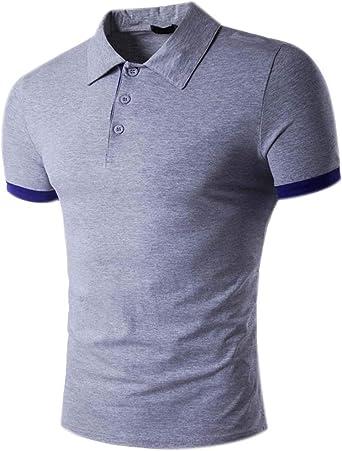 Camisa De Polo para Hombre Camisetas Camisa De Retro Manga Corta ...