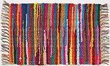 HF by LT Mardi Gras Handwoven Natural Fiber Cotton Rug, 24