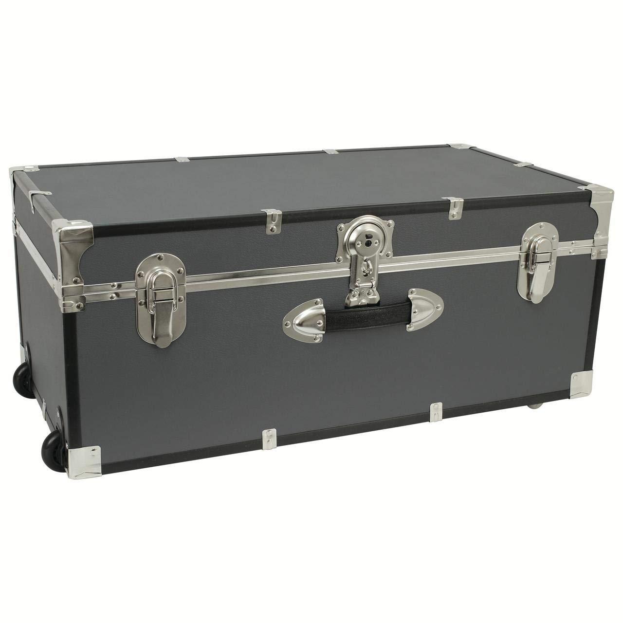 Seward Trunk 30-inch Footlocker Trunk with Wheels Grey (Gray) by Seward Trunk