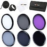67mm Lens Filter Kit, K&F Concept Slim UV Filter + Polarizing Filter + Neutral Density Filter Set (ND2 ND4 ND8) + Slim FLD Lens Filter Set Compatible with Canon Nikon Digital Camera