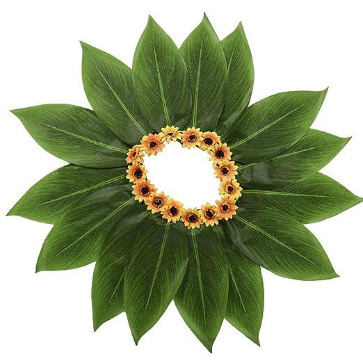 Xiang Ru - Falda de Hula y Hojas Hawaianas para césped, con Flores ...