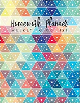 amazon homework planner weekly to do list geometric design