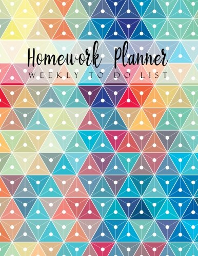 Homework Planner Weekly to do list: Geometric Design Student Planner Journal Tracker Notebook Education Teaching Studying Journal size 8.5x11 Inches (Homework Assignment Planner) (Volume 2) -