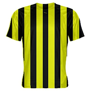 f95b1ed1e Amazon.com  Youth Yellow Soccer Jerseys - Striped Soccer Shirts - Custom Soccer  Jerseys - Referee Shirt