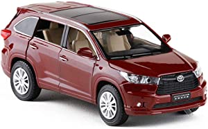 modelcars 1:32 Scale Toyota Highlander SUV Diecast Model Car Toy Collection Sound&Light Gift Wine