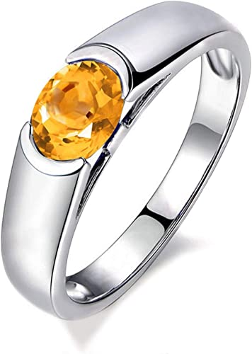 AMDXD Jewellery 925 Sterling Silver Wedding Bands Womens Oval Cut Cubic Zirconia Ring