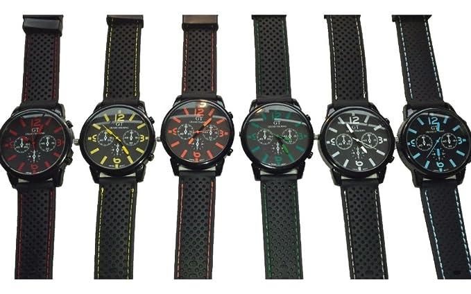 24 pcs para hombre Boys negro deporte GT relojes nueva al por mayor Lot un: Amazon.es: Relojes