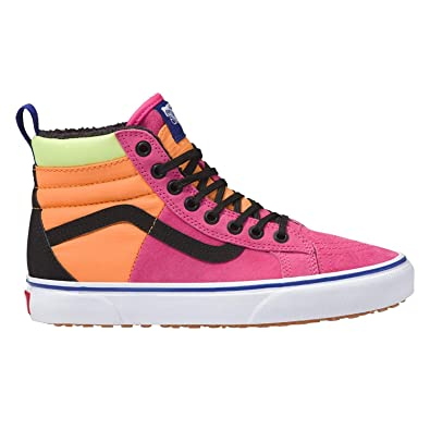 a6bdaf0359e0 Image Unavailable. Image not available for. Color  Vans SK8-Hi 46 MTE DX  Kids  Pink Yarrow Tangerine Black Kids