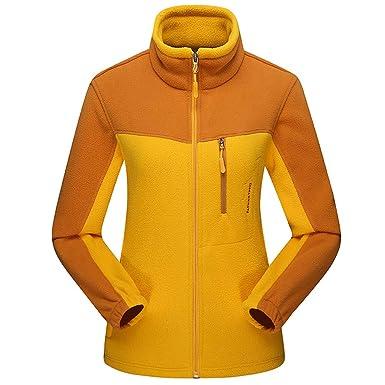 JMETRIC Frauen Fleece Fleece Reißverschluss Stehkragen Top
