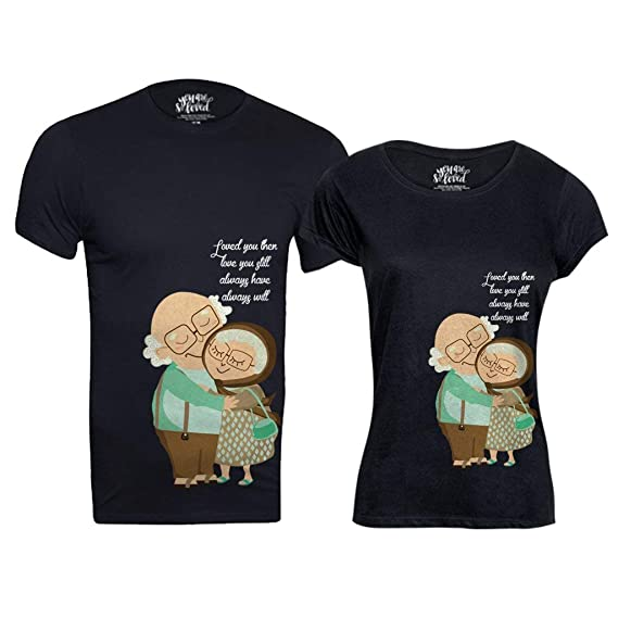 b088917115 Bon Organik Cotton Love You Always, Matching Couples Valentines Day Tshirts/Printed  Cotton T