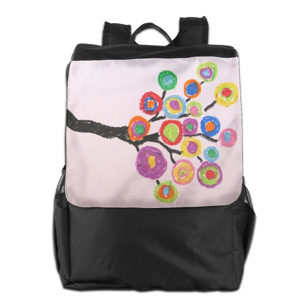 cheap Believe Ddspp Colored Circle Tree Outdoor Backpack Rucksack Office Bag