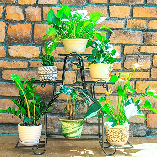 AMour Light Flower Stand Shelf Multi-storey Iorn Plant Dispaly Rack Indoor And Outdoor Flower Pot Rack (Size : M)
