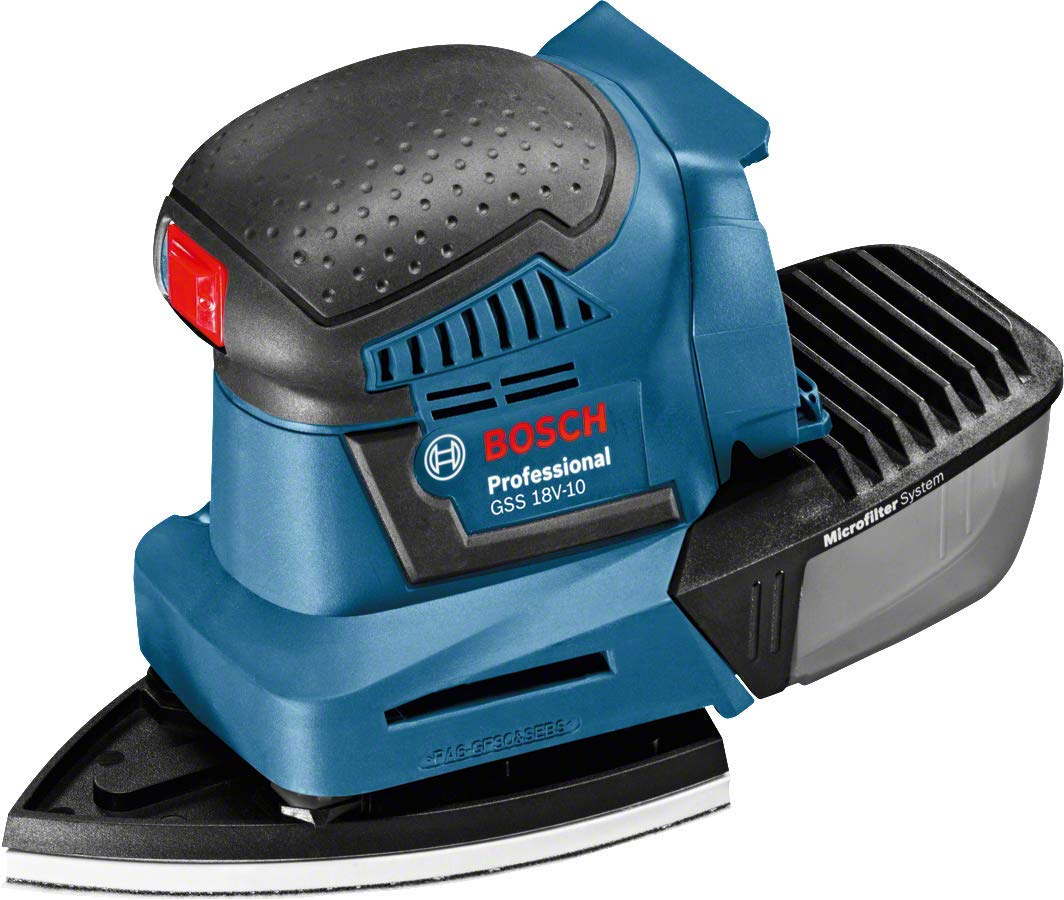 L-Boxx Bosch Professional GSS 18 V-10 Cordless Orbital Sander with Two 18 V 5.0 Ah Lithium-Ion Batteries