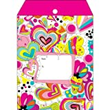 Jillson Roberts SY414 6-CountTyvek Decorative Padded Mailing Envelopes Available in 8 Designs and 2 Sizes, Small, Doodle Art
