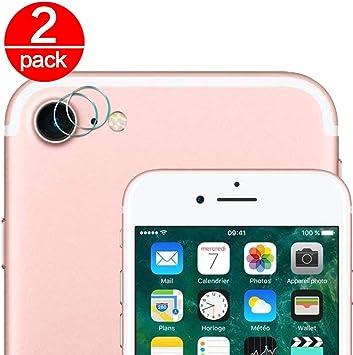 2X Cristal Templado para Lente Cámara de iPhone 7/iPhone 8 Ultra ...