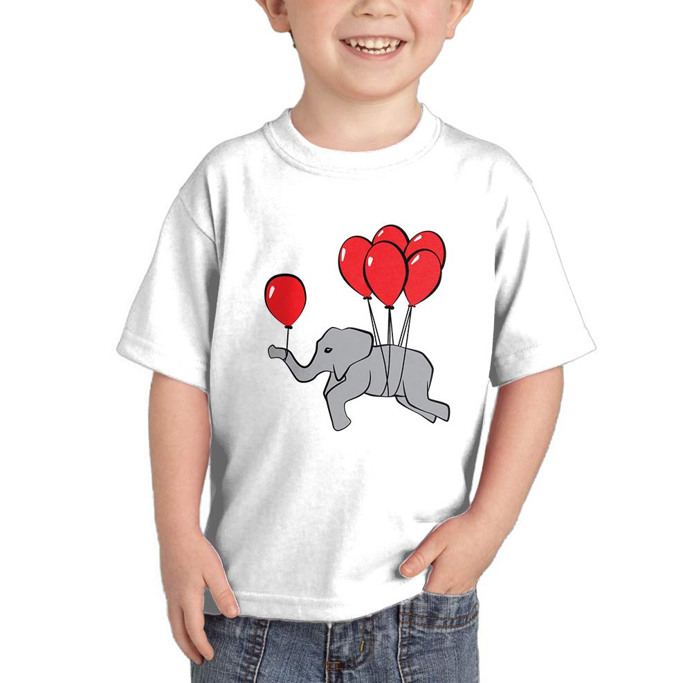 Elephant With Balloons T Shirt 3470