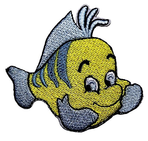 Little Mermaid FLOUNDER CHARACTER Embroidered product image