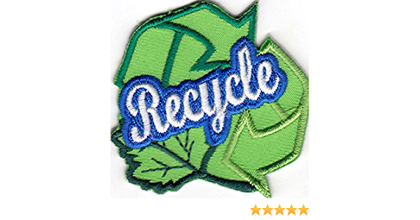 RECYCLE Iron On Patch Recycling Conservation