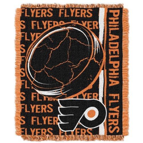 "The Northwest Company NHL Philadelphia Flyers Double Play Jacquard Throw, 48"" x 60"""