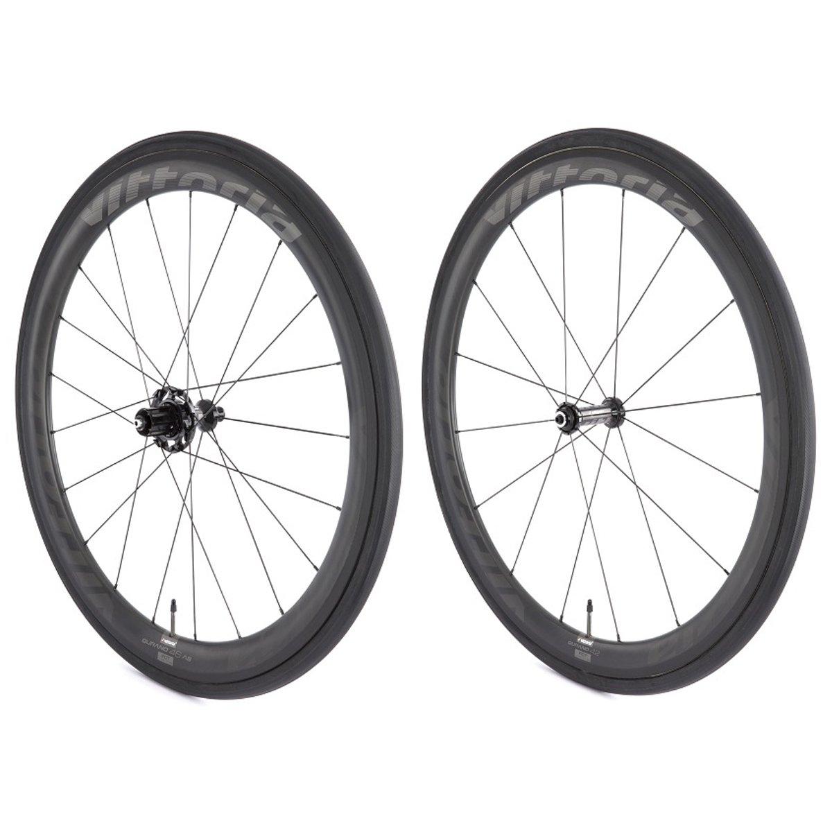 Vittoria Qurano 60カーボンチューブラーロード自転車ホイールセット B00P9DJXQU   700C/ 60mm