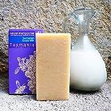 Fresh Goats Milk Solid Shampoo Bar   Only 5 Ingredients 100% Natural & Organic Sulfate Free   Soothing for Sensitive Skin Psoriasis Ezcema & Dandruff   Handmade From Tasmania Australia