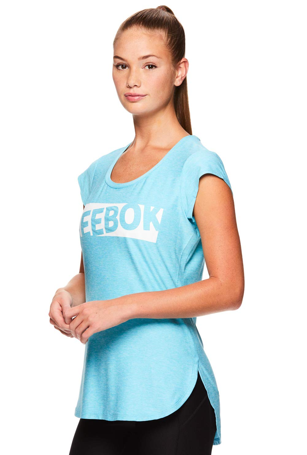 Reebok Women's Legend Performance Top Short Sleeve T-Shirt - Blue Atoll Heather, Extra Small by Reebok (Image #2)