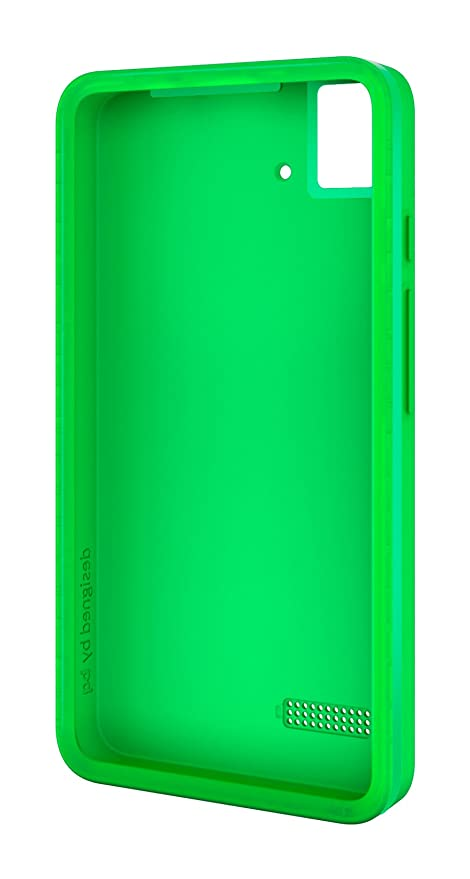 BQ Gummie - Funda para BQ Aquaris E4, color verde