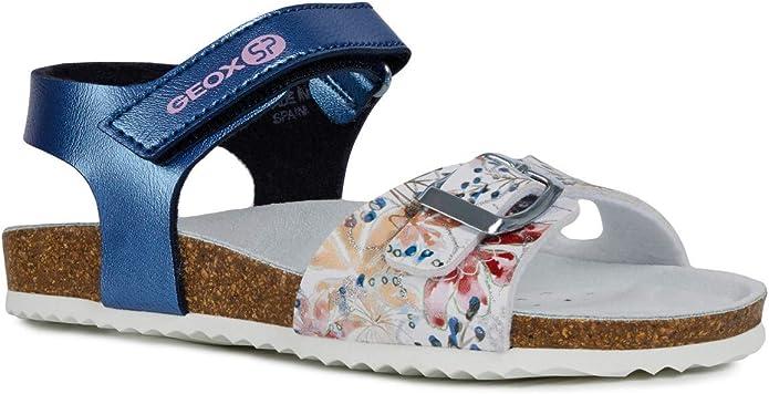 Geox Adriel Girl J928MB Mädchen Sandaletten,Kinder Tieffussbett Sandale,Pantolette,Sommerschuh,Sommersandale
