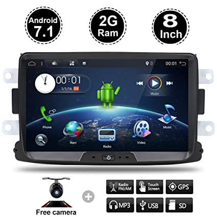2GB+16GB Android 7.1 GPS Navigation Multimedia Player Car Stereo Car Radio Fit Renault Duster
