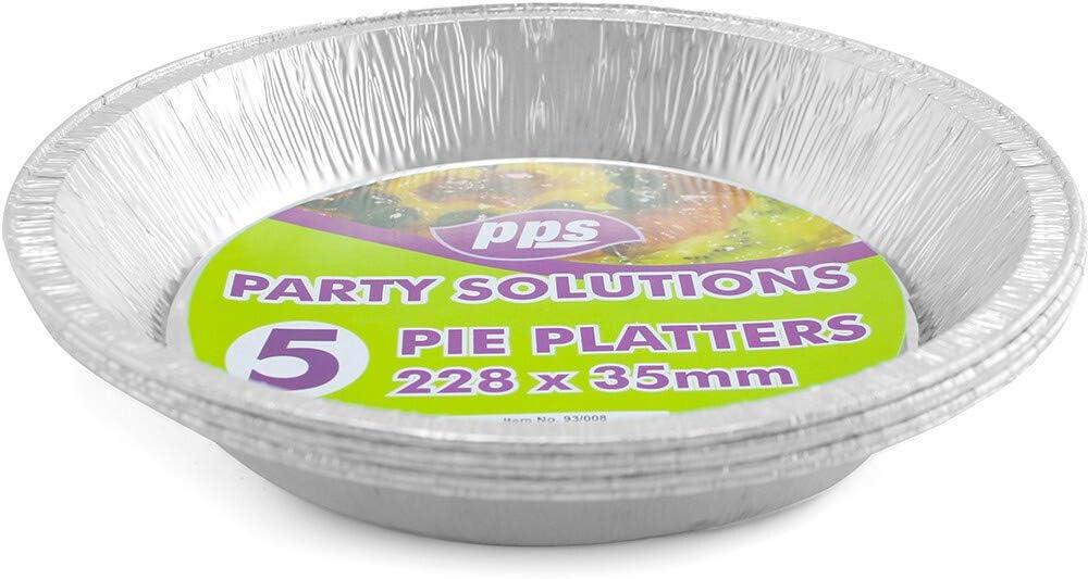 23 cm x 3,5 cm vassoio usa e getta PPS 5 x Piatti rotondi per torta