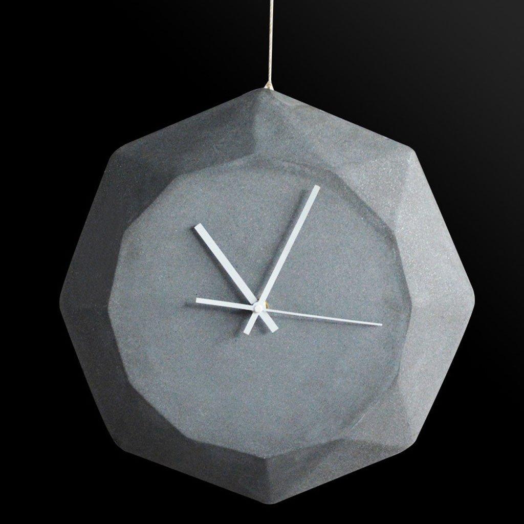 幾何学形状の壁時計クリエイティブモデリング白い環境保護セメントの壁時計のホームアクセサリー (Color : Gray) B07CTC2DSBGray