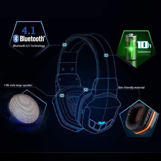 Chuxj Gaming Headset Headphones Computer Pc Mic Stereo Gamer Microphone Headset Wireless Bluetooth Headset Desktop Laptop Headphones Music Game Sports Bluetooth 4 1usb Charging Headset Headsets