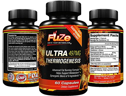 FUZE Thermogenic Mega Fat Burner Weight Loss Energy Supplement with Detox Diet Plan To Ignite Your Metabolism and Melt Fat Fast! by Fuze
