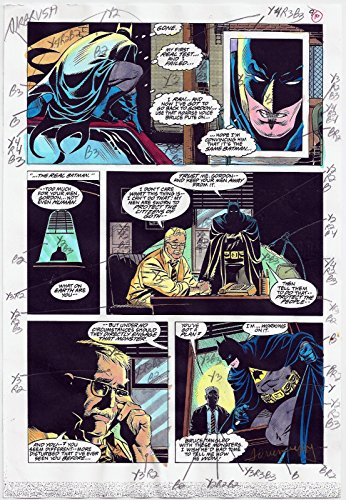 BATMAN ANNUAL COMICS #17 PRODUCTION ART ORIGINAL PAGE #9 SIGNED ADRIENNE ROY