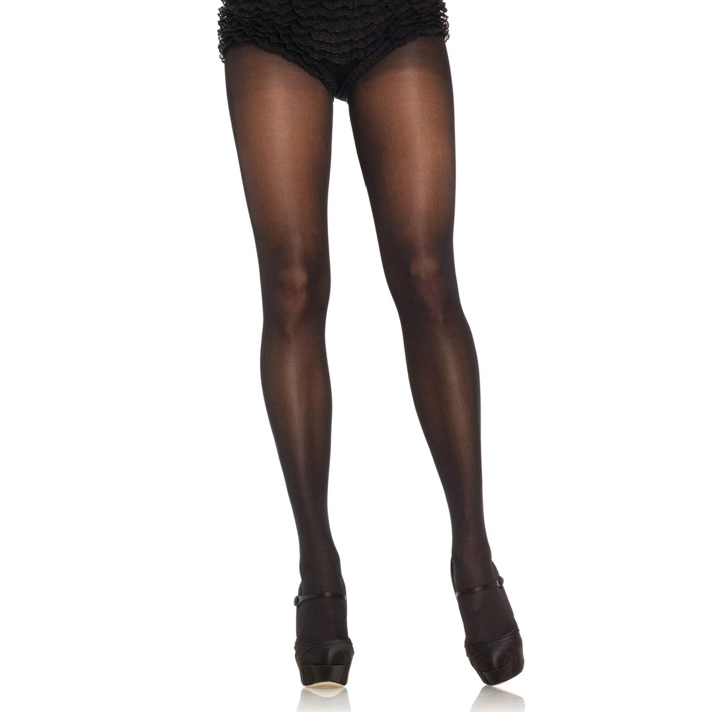 Beige Nude Black Leg Avenue Opaque Sheer to Waist Tights W//Cotton Crotch