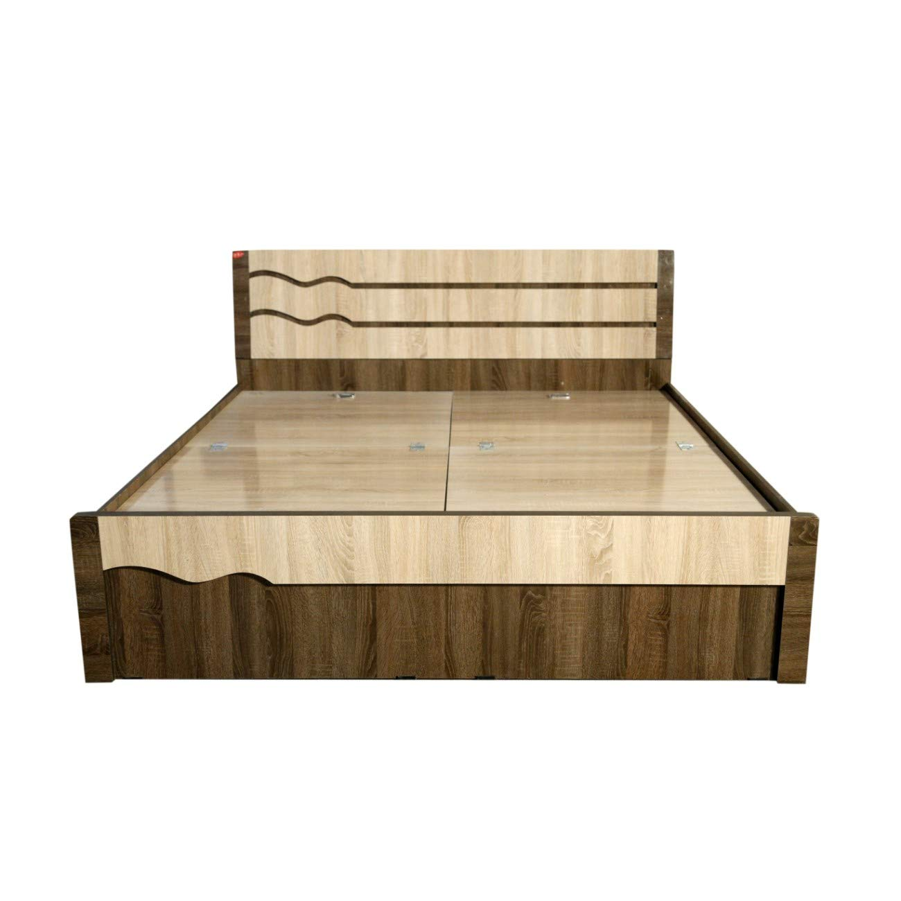 Dk furniture engineered wood three waves queen bed box amazon in home kitchen