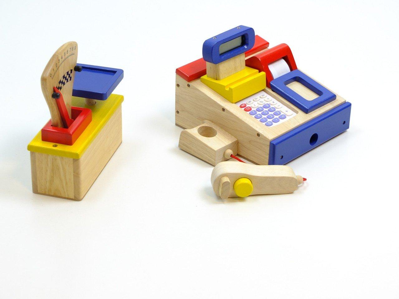 Kaufladen Kasse und Kaufladen Waage - Kaufladen Set Bunt