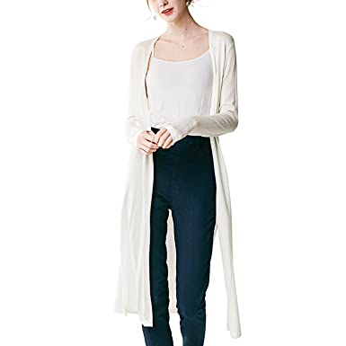 Bemorewithless Women's Lightweight Long Sleeve Open Front Classic ...