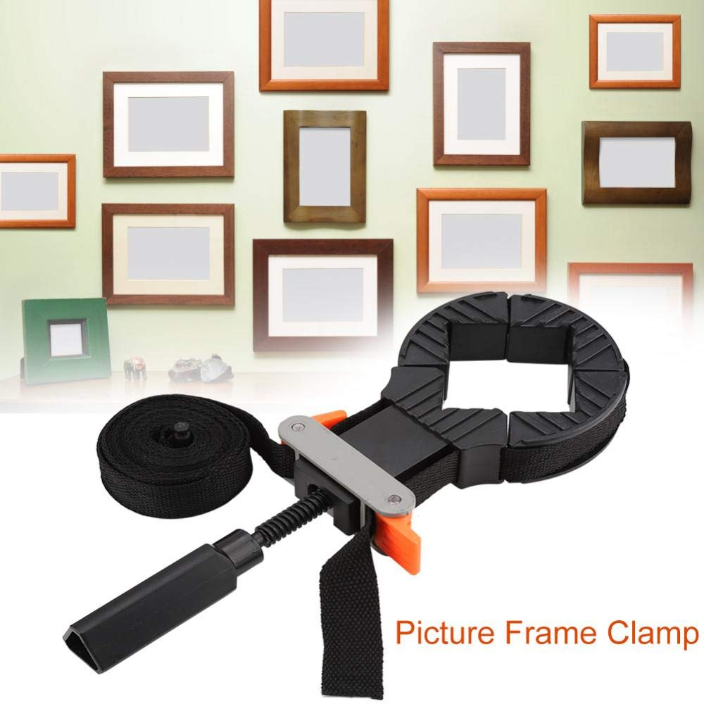 FTVOGUE Adjustable Band Strap 4 Jaws Corner Clamp for Picture Frame Woodworking Hand Tool